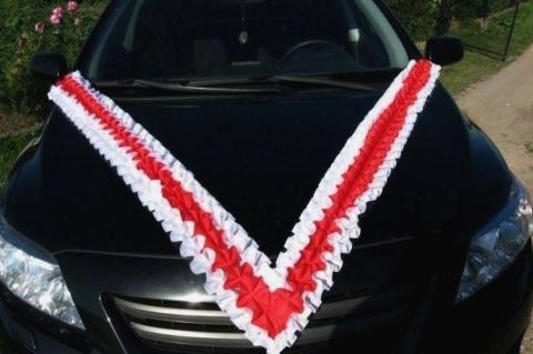 красно-белая лента на машину купить