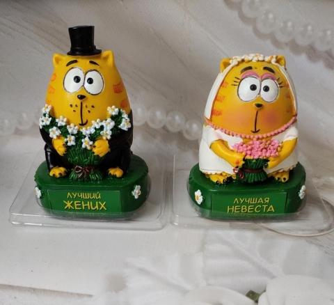 статуэтка коты жених  невеста
