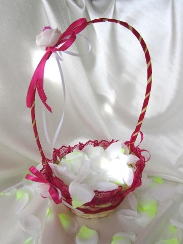 малиновые свадебные корзинки картинки