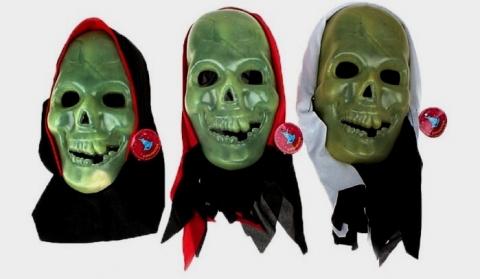 маска череп фосфорная