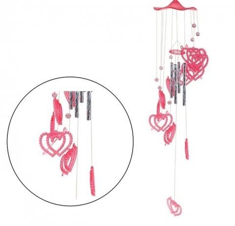 музыка ветра розовые сердечки