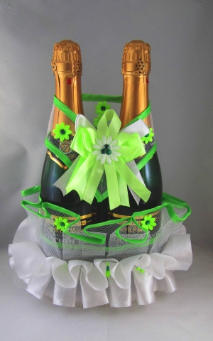 зеленые свадебные украшения купить