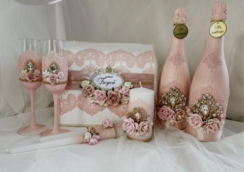 пыльная роза свадебные аксссуары фото