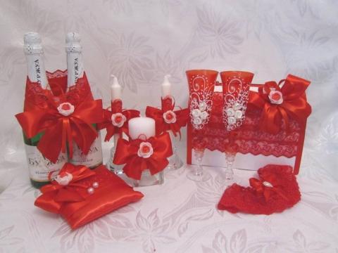 набор на свадьбу красный фото
