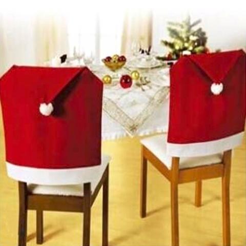 новогодние чехлы на стулья фото