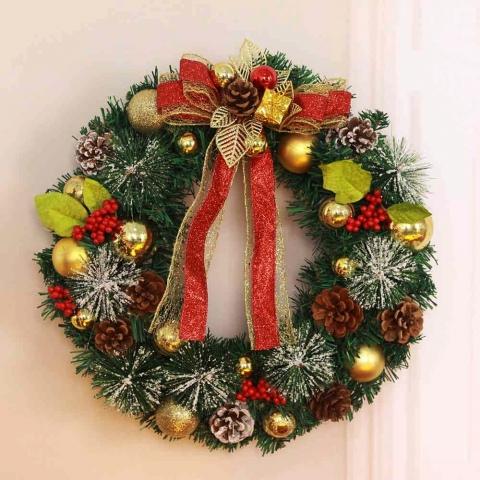 новогодний венок на дверь фото