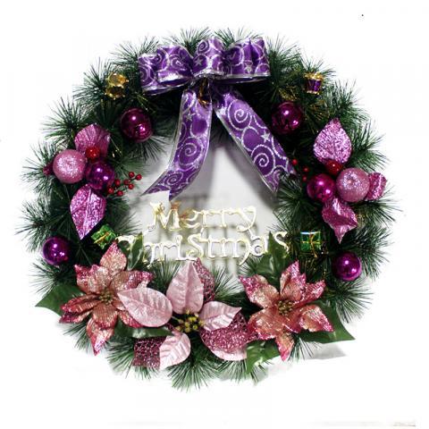 новогодний венок сиреневый фото розовый фото