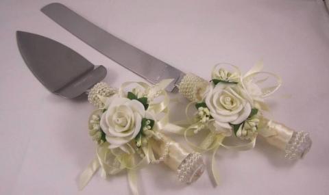 нож и лопатка для торта купить