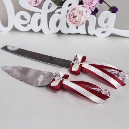 нож и лопатка для свадебного торта марсала