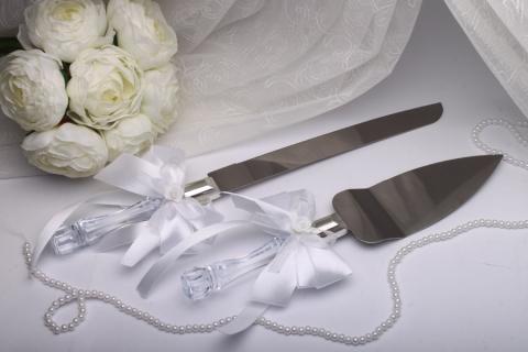 приборы для свадебного торта