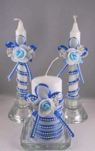 очаг на свадьбу голубой купить