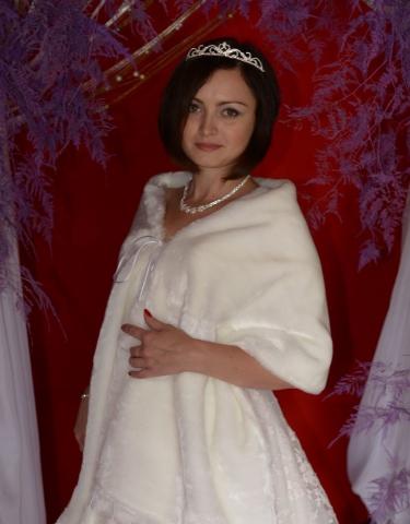 палантин меховой свадебный