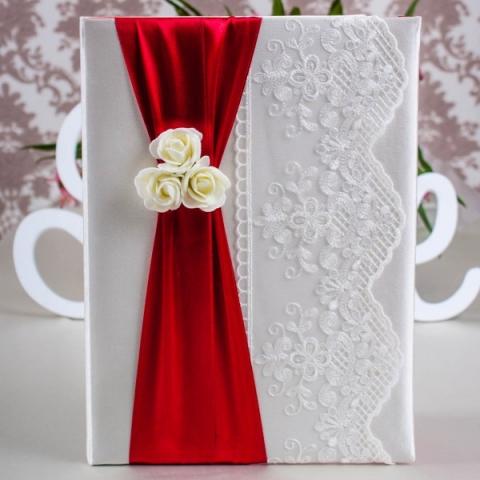 папка для свидетельства о браке красная купить