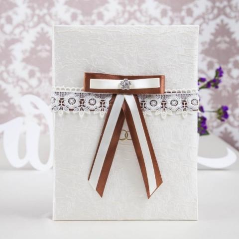 папка для свидетельства о браке шоколадная купить