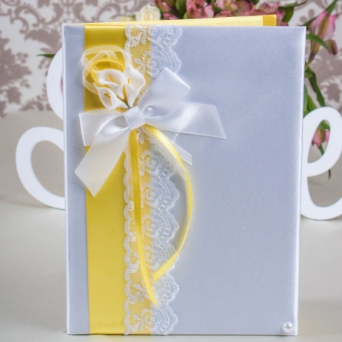 папка для свидетельства о браке желтая фото