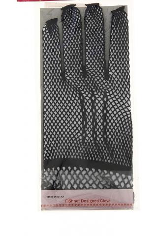 черные перчатки сетка