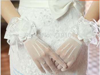 перчатки свадебные короткие купить