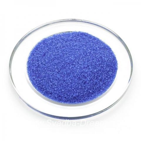 синий песок для песочной церемонии