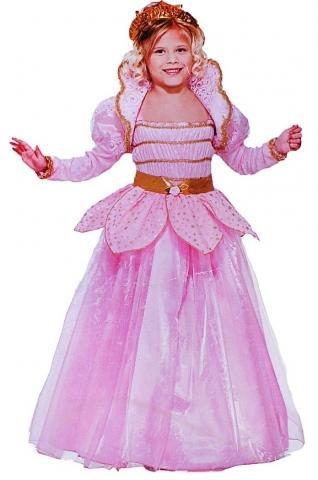 платье принцессы розовое