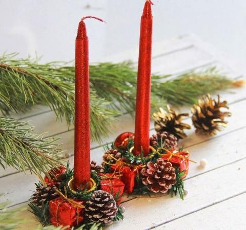 подарочные наьоры новоголних свечей купить