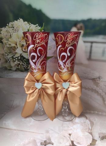 рубиновые бокалы в подарок фото