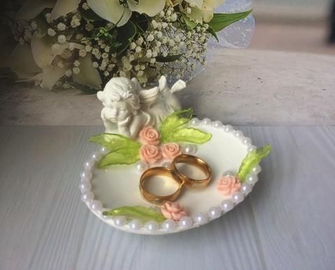пудровые свадебные аксессуары для колец купить