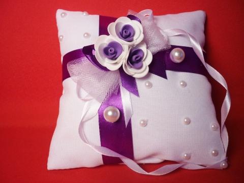 подушечка для колец фиолетовая купить