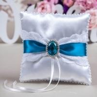 подушечка для колец синяя морская купить