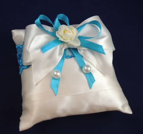 бирюзовая подушечка для колец купить