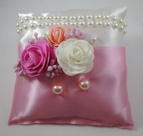 розовая подушечка для колец купить