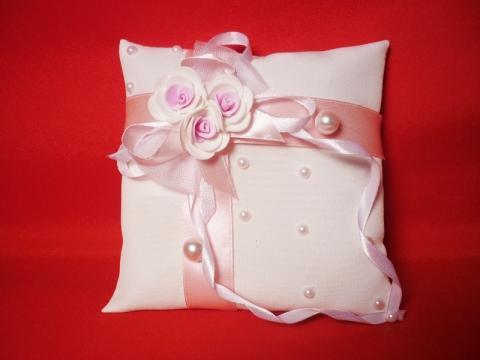 подушечка для колец розовая купить