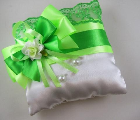 подушечка для колец зеленая купить