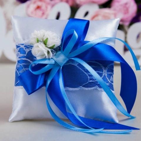 подушечка для коле синяя купить