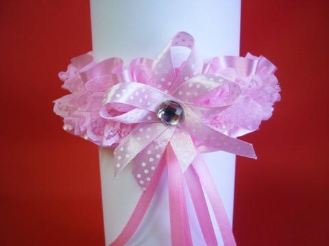 подвязка невесты розовая купить