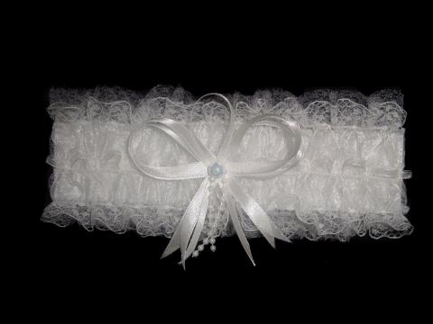 подвязка невесты белая