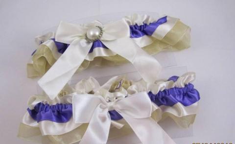 подвязка фиолетовый-айвори купить