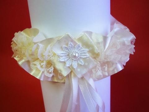 подвязка невест айвори