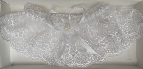 белая подвязка невесты купить