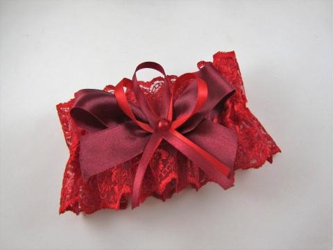 подвязка невесты бордовая купить