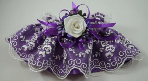 свадебная подвязка фиолетовая картинки