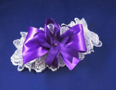 подвязка фиолетовая фото