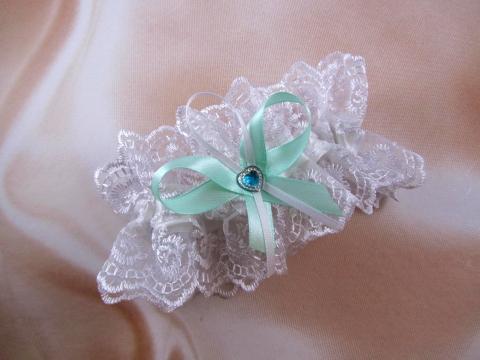 свадебная подвязка тиффани фото