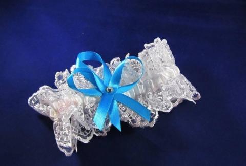 подвязка бирюзовая фото