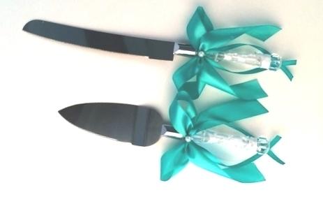 нож и лопатка для торта тиффани