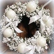 новогодние венки белые фото