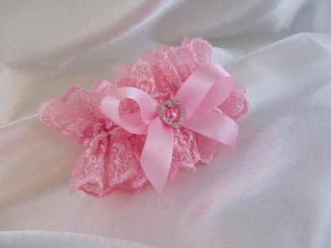 розовые подвязки фото