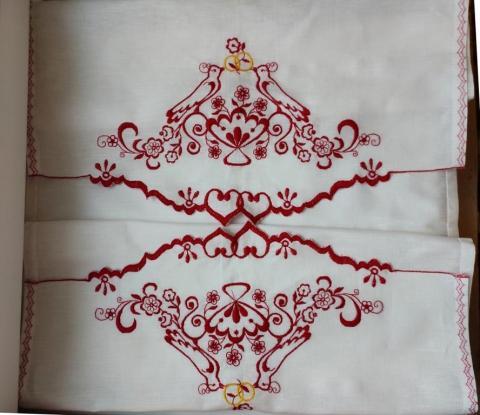 свадебный вышитый рушник хлопок