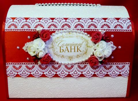 свадебный банк красный фото