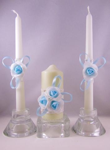свечи очаг голубые фото