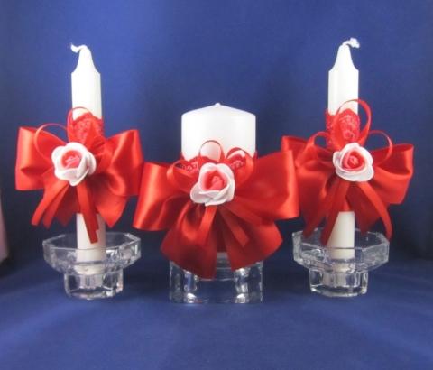 красные свадебные свечи купить
